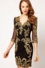 midi sukienka Asos w kolorze czarnym - zima 2012/2013