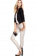 rurki H&M w kolorze srebrnym - stylizacja na wiecz�r