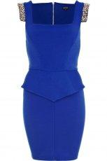 modna sukienka River Island w kolorze  kobaltowym - sukienka na studni�wk�