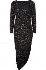 asymetryczna sukienka River Island w kolorze czarnym - sukienka na studni�wk�