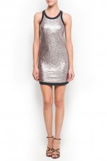 mini sukienka Mango w kolorze srebrnym - kreacja na studni�wk�