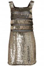 z�ota sukienka Topshop z cekinami - karnawa� 2013