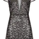 srebrna sukienka wieczorowa Topshop z cekinami - p�metek 2013