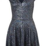 granatowa sukienka Topshop z cekinami - sylwester 2012/13