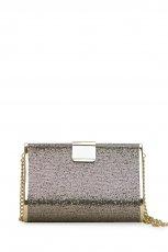 kopert�wka Mango w kolorze srebrnym na z�otym �a�cuszku - b�yszcz�ce torebki