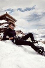 dopasowane golf H&M w kolorze czarnym - ubrania na zim�