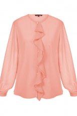 bluzeczka Top Secret z �abotem w kolorze jasnor�owym - wiosna 2013