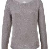 sweter Top Secret w kolorze srebrnym - wiosna 2013