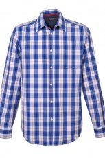 koszula Top Secret w kratk� w kolorze niebieskim - ubrania dla m�czyzn