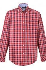 koszula Top Secret w kratk� w kolorze czerwonym - moda m�ska