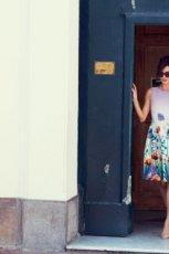 urocza sukienka F&F w kwiaty - moda na wiosn� i lato 2013