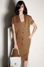 elegancka sukienka Max Mara w kolorze br�zowym - moda na wiosn� i lato 2013