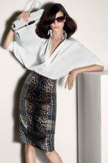 lu�na koszula Max Mara w kolorze bia�ym - moda na wiosn� i lato 2013