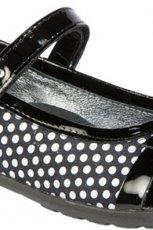 czarne pantofle BARTEK w kropki - jesie�-zima 2012/2013