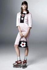 elegancka sukienka Prada w kolorze jasnor�owym - wiosna i lato 2013