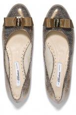 po�yskliwe baleriny Badura w kolorze srebrnym - buty na wiosn� 2013