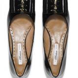 lakierowane baleriny Badura w kolorze czarnym - buty na wiosn� 2013