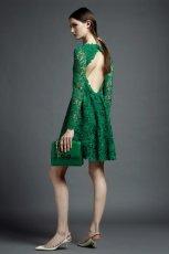 ciemnozielona sukienka Valentino koronkowa - kolekcja letnia
