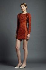 pomara�czowa sukienka Valentino - moda na wiosn�