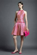 r�owa sukienka Valentino w paski - wiosna/lato 2013