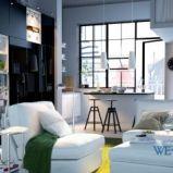 Wygodne meble salon IKEA  -urokliwe wn�trze