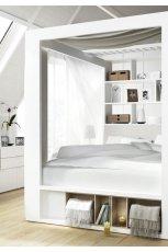 Pi�kna sypialnia w kolorze bieli w stylu  minimalistycznym od Meble VOX  -trendy 2013