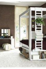 Pi�kna sypialnia z dabink� w kolorze bieli od Meble VOX  -pomys�owe wn�trze