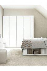 Dziewcz�ca sypialnia w kolorze bieli  w stylu minimalistycznym od Meble VOX  -pomys�owe wn�trze