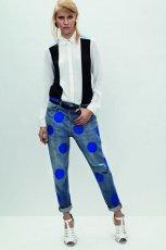 jeansy Topshop w niebieskie groszki - lato 2013