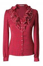 koszula Pretty One w groszki w kolorze czerwonym - wiosna 2013