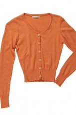 rozpinany sweterek Bialcon w kolorze pomara�czowym - lato 2013
