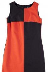 pomara�czowo - czarna sukienka Bialcon - lato 2013