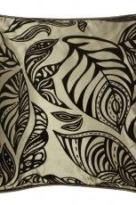 Fantazyjna poduszka dekoracyjna w ro�linne wzory do salonu- Black Red White