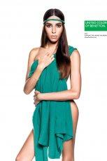 modny sweterek Benetton w kolorze morskim - moda 2013