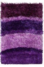 Mi�kki dywan w kolorze liliowym w paski do salon lub gabinetu od Black Red White  -nowo�ci 2013
