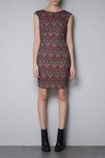 oryginalna sukienka ZARA w kolorze br�zowym - wiosna 2013