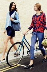 czerwono - granatowa bluzeczka Max&Co - wiosna 2013