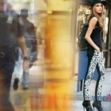 modne legginsy DKNY - Cara Delevingne