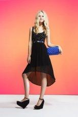asymetryczna sukienka Tally Weijl w kolorze czarnym - lato 2013