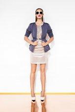 dopasowana sukienka Aryton w kolorze srebrnym - lato 2013