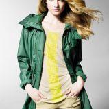ciemnozielona kurtka Benetton - modne kurtki