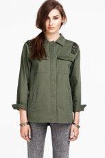 kurtka H&M w kolorze khaki - wiosenne trendy