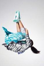 modne spodnie 3/4 Nike w kolorze turkusowym - lato 2013