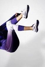 spodnie Nike w kolorze bia�o - fioletowym - lato 2013