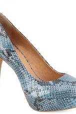 niebieskie szpilki Kazar w w�ow� sk�r� - moda na wiosn�