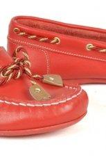 czerwone mokasyny Badura - buty na wiosn�