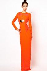pomara�czowa sukienka wieczorowa Asos - wiosna/lato 2013