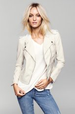 modna ramoneska H&M w kolorze be�owym - moda na wiosn� 2013