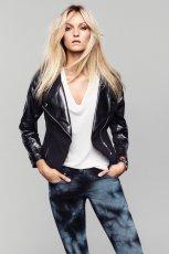rockowa ramoneska H&M w kolorze czarnym - moda na lato 2013