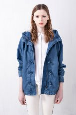 modna jeansowa parka Pull and Bear - moda na wiosn� 2013